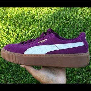 Purple Suede Puma Sneakers